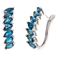 Colleen Lopez 9.1ctw London Blue Topaz Hoop Earrings
