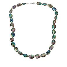 Colleen Lopez Abalone and Chrome Diopside Necklace