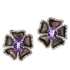 Colleen Lopez Amethyst and Black Mother-of-Pearl Earrings
