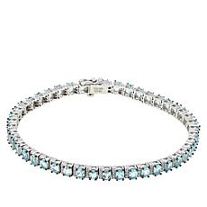 Colleen Lopez Apatite and White Zircon Tennis Bracelet