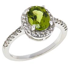 Colleen Lopez Arizona Peridot and White Zircon Ring