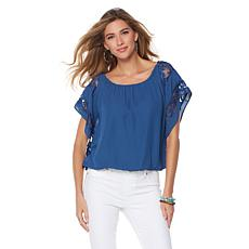 Colleen Lopez Bubble-Hem Lace Blouse