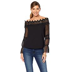 Colleen Lopez C'est Magnifique Off-the-Shoulder Top