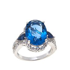 Colleen Lopez Color-Change Fluorite, Sapphire and White Topaz Ring