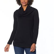 Colleen Lopez Convertible Neck Pullover Sweater with Pockets