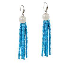 Colleen Lopez Cultured Pearl, Diamond & Gemstone Bead Tassel Earrings
