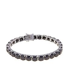 Colleen Lopez Cushion Cut Black Spinel Line Bracelet