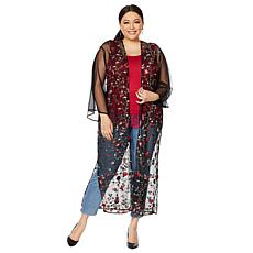 Colleen Lopez Embroidered Mesh Duster