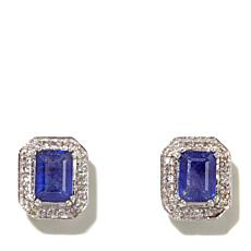 Colleen Lopez Emerald-Cut Sapphire & Topaz Earrings