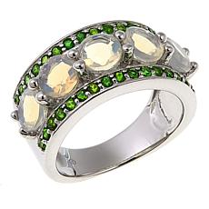 Colleen Lopez Ethiopian Opal and Gemstone Band Ring
