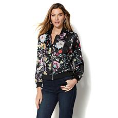 Colleen Lopez Floral-Print Bomber Jacket