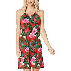 Colleen Lopez Floral Print Halter Dress