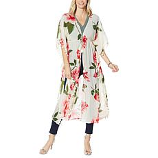 Colleen Lopez Floral Tassel Duster