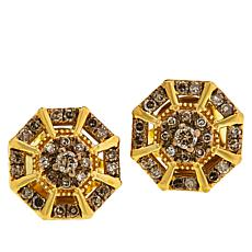 Colleen Lopez Gold-Plated .33ctw Colored Diamond Earrings