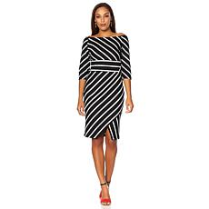 Colleen Lopez Infinitely Inspired Striped Asymmetric Dress