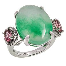 Colleen Lopez Jade, Pink Tourmaline and White Topaz Ring