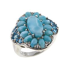 Colleen Lopez Larimar, Swiss Blue Topaz and White Topaz Ring