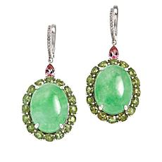Colleen Lopez Milky Jade and Multi-Gemstone Drop Earrings