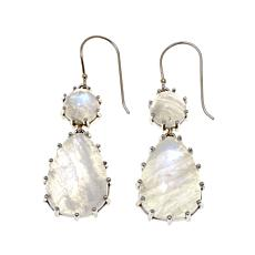Colleen Lopez Moonstone Sterling Silver Drop Earrings