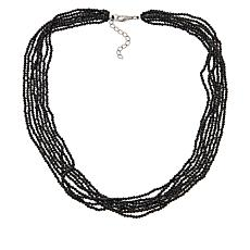 Colleen Lopez Multi-Strand Black Spinel Beaded Necklace