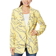 Colleen Lopez Nautical-Print Blazer
