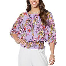 Colleen Lopez Off the Shoulder Favorite Peasant Blouse