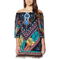 Colleen Lopez Off-the-Shoulder Printed Dress