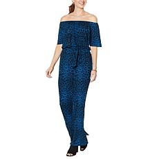 Colleen Lopez Off-the-Shoulder Wide-Leg Jumpsuit