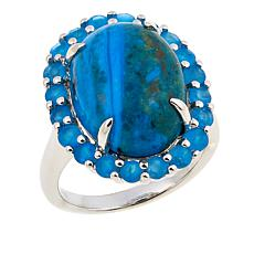 Colleen Lopez Opalina and Neon Blue Apatite Sterling Silver Ring