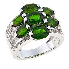 Colleen Lopez Oval Gemstone and White Zircon 7-Stone Ring