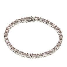 Colleen Lopez Oval Morganite Sterling Silver Line Bracelet