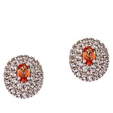 Colleen Lopez Padparadscha Sapphire and White Zircon Earrings