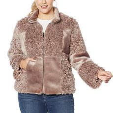 Colleen Lopez Patchwork Faux Fur Coat