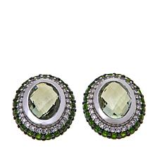 Colleen Lopez Prasiolite and Chrome Diopside Earrings