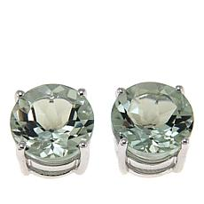 Colleen Lopez Round Gem Sterling Silver Stud Earrings