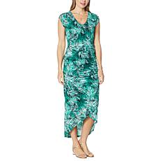 Colleen Lopez Shirred Maxi Dress