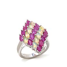 "Colleen Lopez ""Shooting Star"" Ruby and Opal Ring"