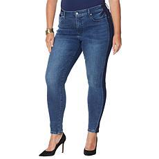 Colleen Lopez Side Stripe Skinny Jean  - Basic