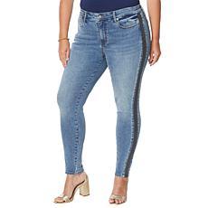 Colleen Lopez Side Stripe Skinny Jean  - Fashion