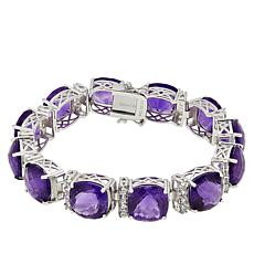 Colleen Lopez Sterling Silver Amethyst and White Topaz Bracelet