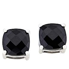 Colleen Lopez Sterling Silver Cushion-Cut Black Spinel Stud Earrings