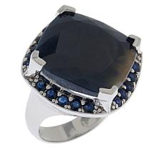 Colleen Lopez Sterling Silver Cushion-Shaped Sapphire Ring