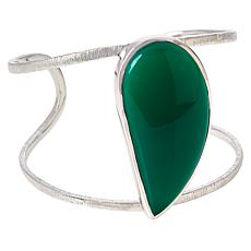 Colleen Lopez Sterling Silver Freeform Gemstone Cuff
