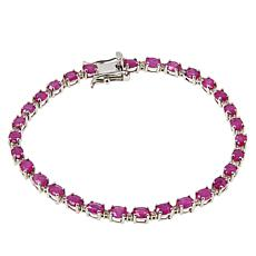 Colleen Lopez Sterling Silver Ruby and Pink Diamond Bracelet