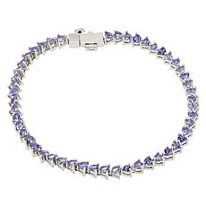 Colleen Lopez Sterling Silver Trillion-Cut Gemstone Bracelet