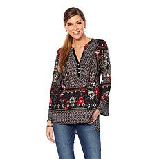 Colleen Lopez Sweet Charm Printed Tunic Top