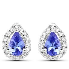 Colleen Lopez Tanzanite and Zircon Pear-Shaped Studs