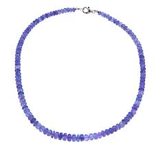 "Colleen Lopez Tanzanite Faceted Bead Sterling Silver 18"" Necklace"
