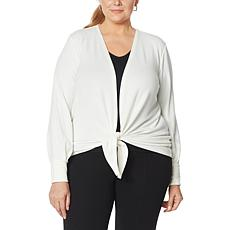 Colleen Lopez Tie-Front Sweater Knit Topper