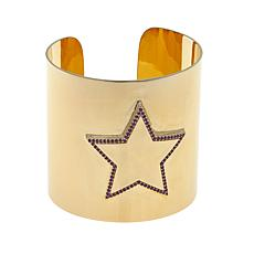 Colleen Lopez Wonder Woman Gemstone Star Cuff Bracelet